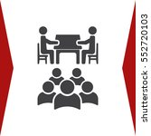 meeting icon vector flat design ... | Shutterstock .eps vector #552720103