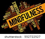 mindfulness word cloud collage  ... | Shutterstock .eps vector #552722527