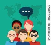 community people social media... | Shutterstock .eps vector #552728527