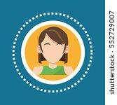 character woman brunette green... | Shutterstock .eps vector #552729007