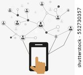 social network  | Shutterstock .eps vector #552730357