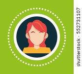character girl red hair social... | Shutterstock .eps vector #552731107