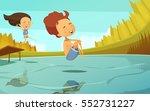 summer cartoon vector... | Shutterstock .eps vector #552731227