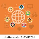 global people connection social ... | Shutterstock .eps vector #552731293