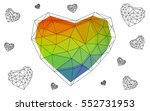 multicolor heart isolated on... | Shutterstock .eps vector #552731953