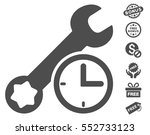 service time icon with free... | Shutterstock .eps vector #552733123