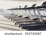 modern gym interior with... | Shutterstock . vector #552733387