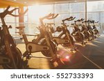 modern gym interior with... | Shutterstock . vector #552733393