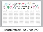 weekly planner summer party... | Shutterstock .eps vector #552735697