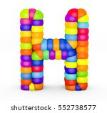3d render letter h made with...   Shutterstock . vector #552738577
