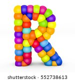 3d render letter r made with...   Shutterstock . vector #552738613
