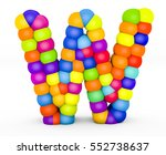 3d render letter w made with...   Shutterstock . vector #552738637