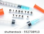 type 1 diabetes concept... | Shutterstock . vector #552738913