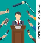 public speaker and hands of... | Shutterstock .eps vector #552739063