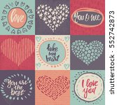 collection of romantic and love ... | Shutterstock .eps vector #552742873