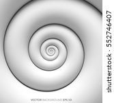 abstract white spiral... | Shutterstock .eps vector #552746407