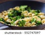 pasta with broccoli | Shutterstock . vector #552747097