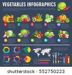 vegetable infographics.... | Shutterstock .eps vector #552750223