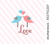cute st. valentine's day... | Shutterstock .eps vector #552751207