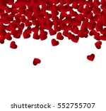 vector background with hearts ... | Shutterstock .eps vector #552755707