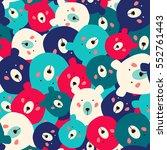 bears seamless pattern | Shutterstock .eps vector #552761443