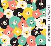 bears seamless pattern | Shutterstock .eps vector #552761467