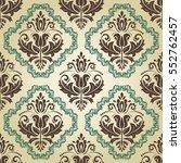 seamless classic vector brown... | Shutterstock .eps vector #552762457