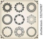vintage set of elements.... | Shutterstock .eps vector #552763987