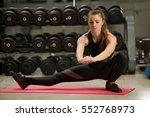 fitness  sport  training  gym... | Shutterstock . vector #552768973