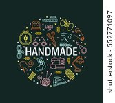 vector hand made icons set  ... | Shutterstock .eps vector #552771097