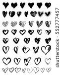 vector doodle hand drawn grunge ... | Shutterstock .eps vector #552777457
