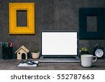 home office working space  job  ... | Shutterstock . vector #552787663