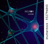 3d neuron system model. vector... | Shutterstock .eps vector #552796843