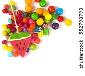 colorful candies and lollypops. ... | Shutterstock . vector #552798793
