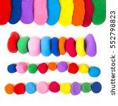 colorful plasticine on white... | Shutterstock . vector #552798823