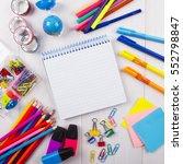 school and office supplies   Shutterstock . vector #552798847