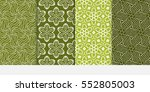 set of abstract vector seamless ...