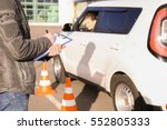 instructor in driving school... | Shutterstock . vector #552805333