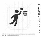 basketball basket and ball sign ...