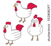 vector set of chicken | Shutterstock .eps vector #552808297