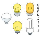 vector set of light bulb