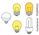 Vector Set Of Light Bulb