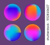 fluid colors circles set. fluid ...   Shutterstock .eps vector #552810637