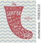 vintage grunge surfboard fin... | Shutterstock .eps vector #552815113