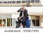 full body portrait of happy man ... | Shutterstock . vector #552817393