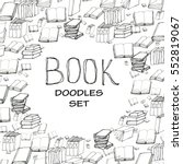 book doodle frame | Shutterstock .eps vector #552819067