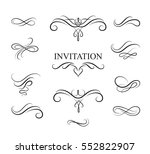calligraphic flourish design... | Shutterstock .eps vector #552822907