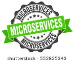 microservices. stamp. sticker.... | Shutterstock .eps vector #552825343