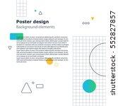 creative modern background ... | Shutterstock .eps vector #552827857
