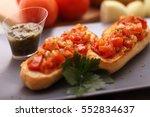 bruschetta | Shutterstock . vector #552834637